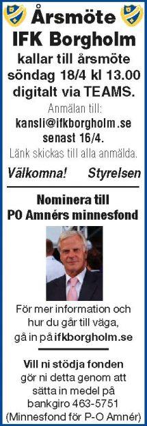 Årsmöte 2021 IFK Borgholm